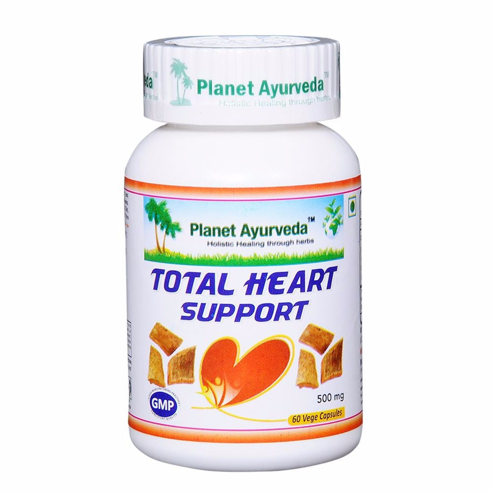 Planet Ayurveda's Total Heart Support Capsules (60) For Blood Pressure & Suger Available