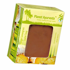 Planet Ayurveda Ginger Lemongrass Loafah Soap Good For All Skin Type 100g