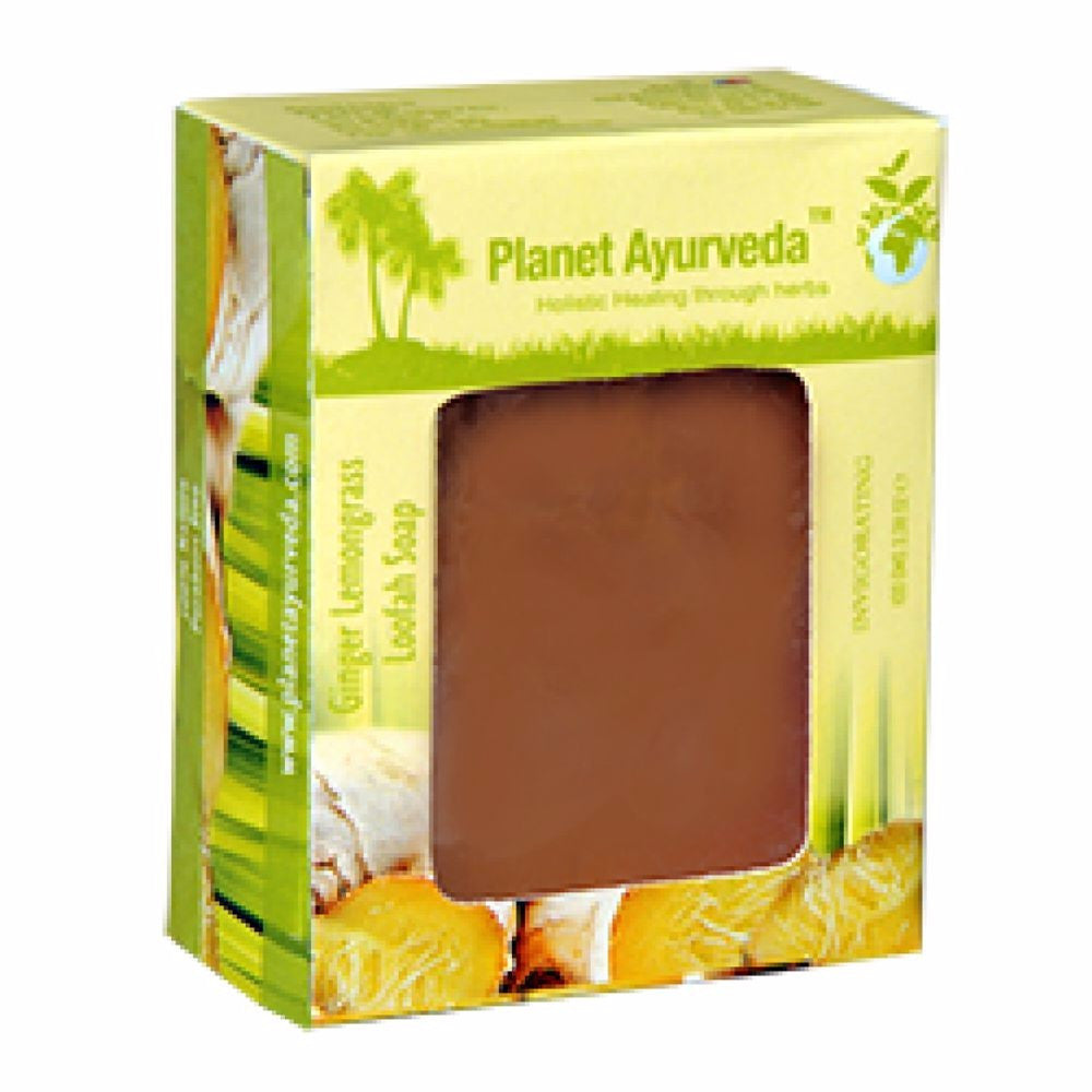 Planet Ayurveda Ginger Lemongrass Loafah Soap Good For All Skin Type 100g Available