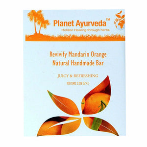 Planet Ayurveda Revivify Mandarin Orange Natural Handmade Bar For All Skin 100g