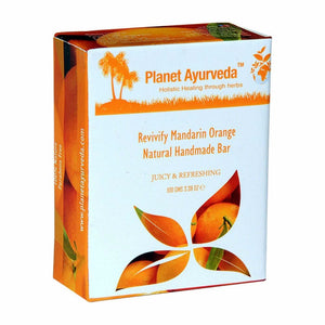 Planet Ayurveda Revivify Mandarin Orange Natural Handmade Bar For All Skin 100g Available