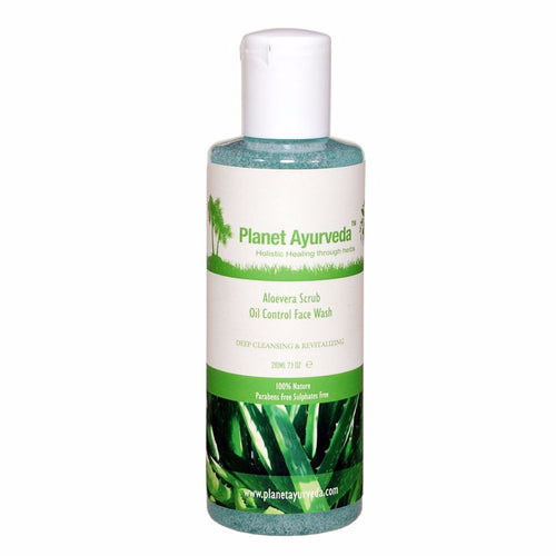 Planet Ayurveda's Aloe Vera Scrub Oil Control Face Wash-No fear Of Side Effects Available