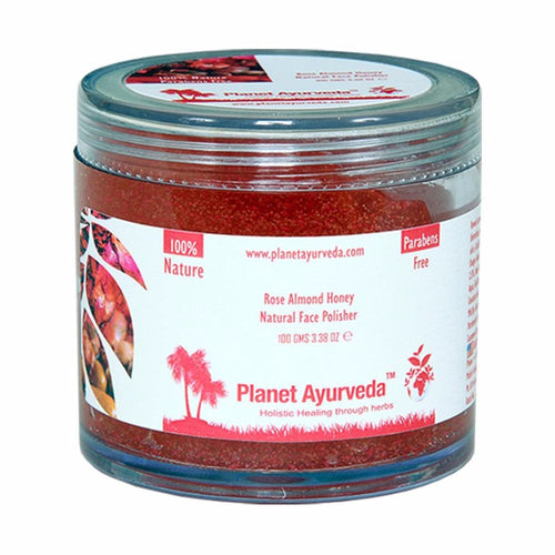 Planet Ayurveda's Rose Almond Honey Natural Face Polisher- For Health Skin 100gm Available