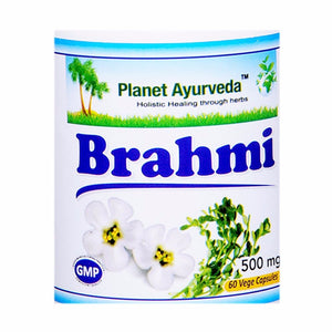 Planet Ayurveda's Brahmi Capsules (60)-It Supports The Healthy Nervous System.