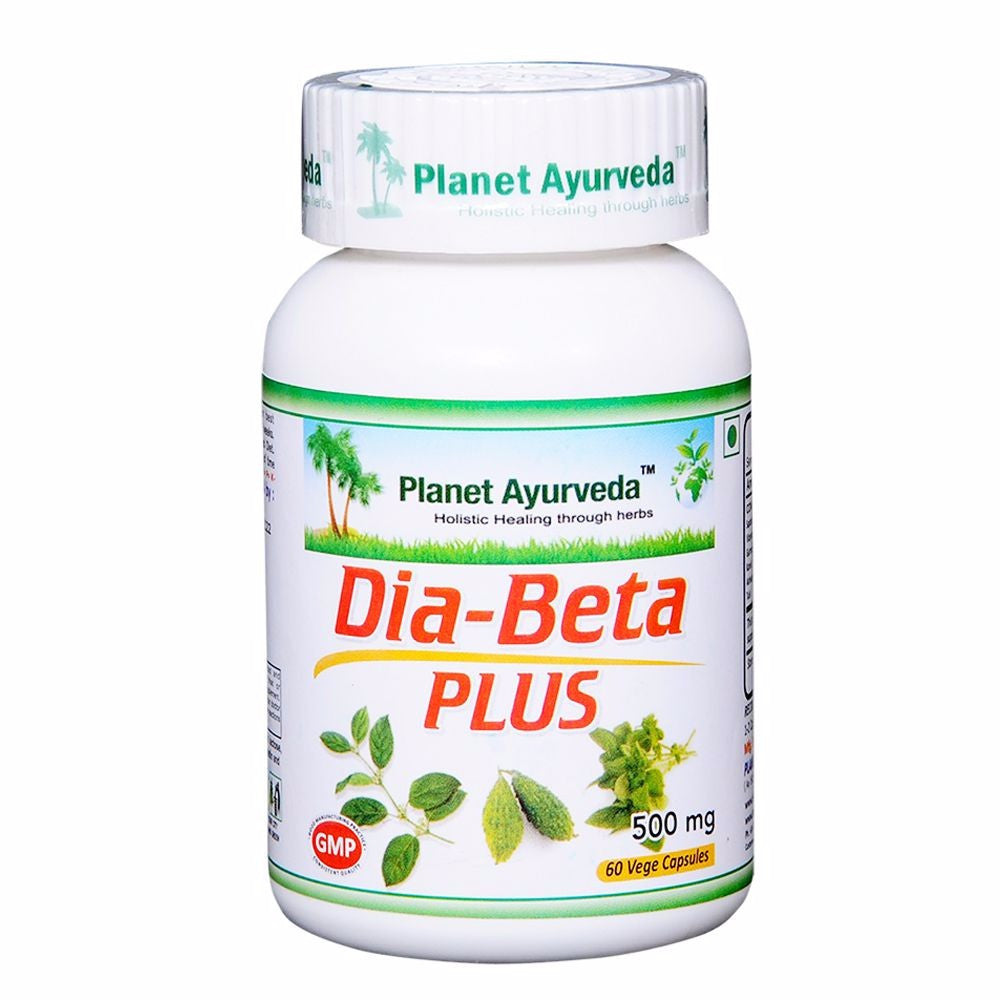 Planet Ayurveda Dia Beta Plus Capsules (60) For Prevent Diabetes - 150gm Available
