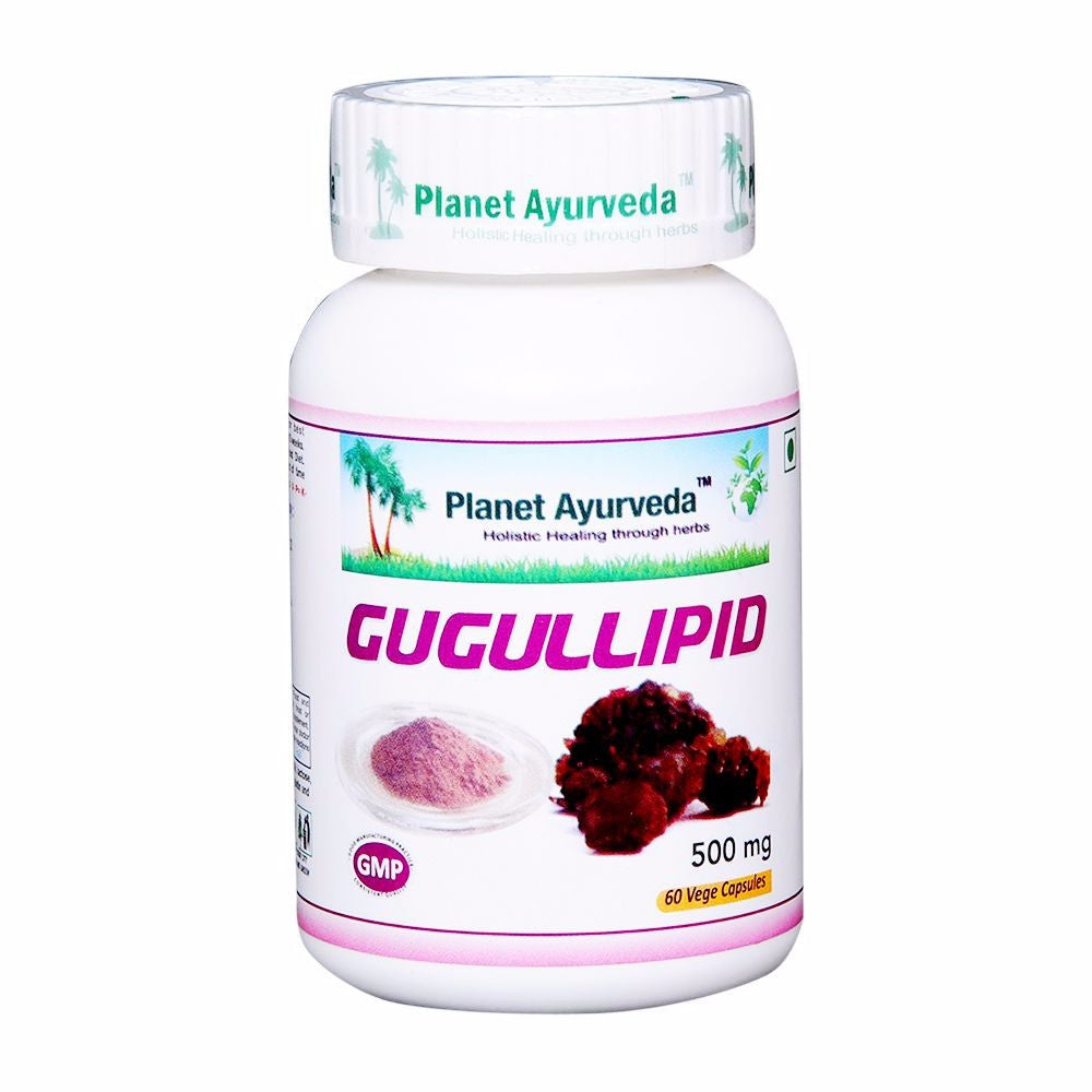 Planet Ayurveda Guggullipid Capsules-60 For Healthy Blood Cholesterol - 150gm Available