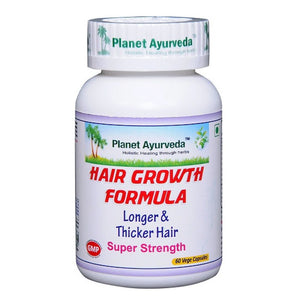 Hair Growth Formula Capsules (60) Planet Ayurveda For Hair Growth - 150gm