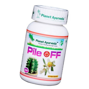 Pile Off Capsules (60) Planet Ayurveda For Relieves Pain & Itching - 150gm