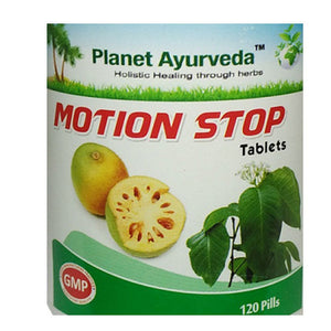 Planet Ayurveda Motion Stop 120 Tablets For Overall Good Health  - 250Gm