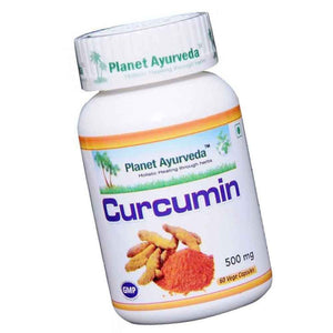 Planet Ayurveda Curcumin 95% Capsules (60) For Liver & Skin Diseases - 150gm