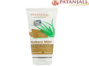 Natural Product Patanjali Face Pack Multani Mitti Glowing Skin - 60Gm