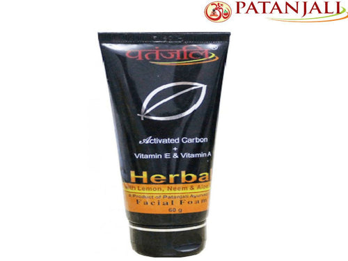 Patanjali Activated Carbon Facial Foam Aloe Vera, Neem & Haldi - 60gm