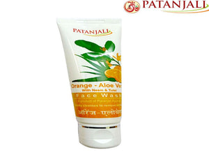 Patanjali Orange Aloevera Face Wash Fresh & Beautiful - 60Gm