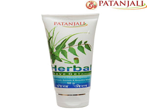 Pure Natural Patanjali Shave Gel Fresh, Smooth And Beautiful - 50Gm