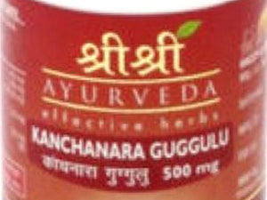 Genuine Kanchanara Guggulu Tablet By Sri Sri Ayurveda