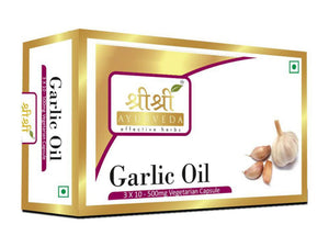 Sri Sri Ayurveda's Genuine Garlic Oil In Veg Capsules 30 Tab-500mg