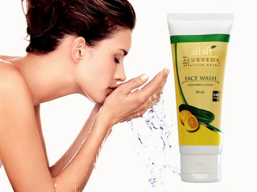 Lemon Face Wash Pure Lemon Essence Skin Lightening 60 ml by Sri Sri Ayurveda