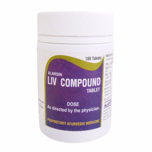 Alarsin Liv Compound Liver Defoxifier For Alcoholic Hepatitis -100 Tablets Available