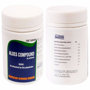 Alarsin Aloes Compound 100% Pure For Female Infertillity - 100 Tablets Available