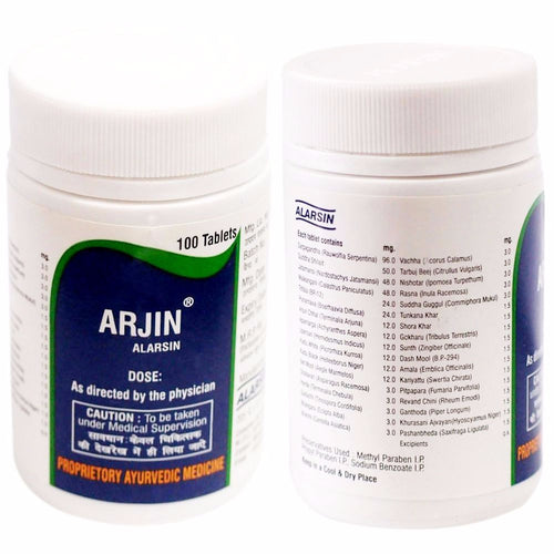 Alarsin Arjin 100% Natural And Pure For Better Control Hypertension  - 100 Tabs Available