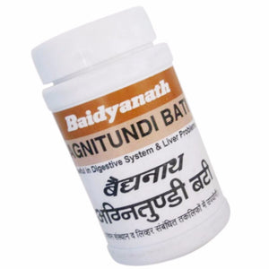 Agnitundi Bati Baidyanath, 80 Tablets, Stomachic, Carminative & Alternative
