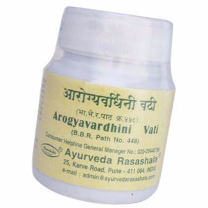 New Arogyavardhini Vati, Ayurveda Rasashala, 60 Tablets, For Skin Diseases