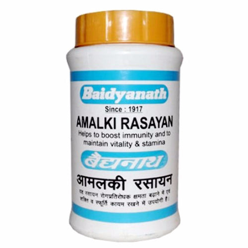 Pure Natural Baidyanath Amalki Rasayan - Bhavana of Amla Swaras - 120 Gm Available