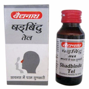 Pure Shadbindu Tel, Baidyanath, 50 ml, For Headache Available