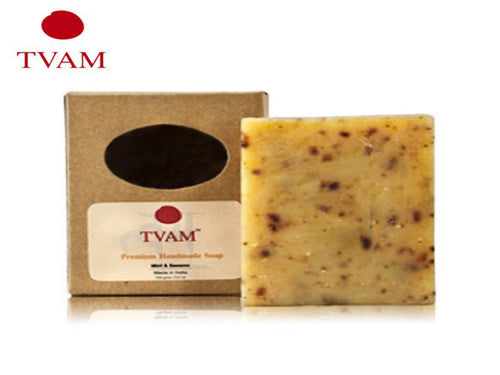 TVAM Mint & Sesame Soap -Spearmint Oil, Peppermint Oil, Sesame Seeds-100 Gms