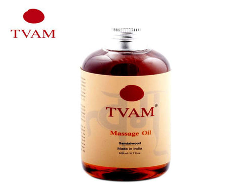 TVAM Body Massage Oil - Sandalwood-improves blood circulation and tones- (200ml)