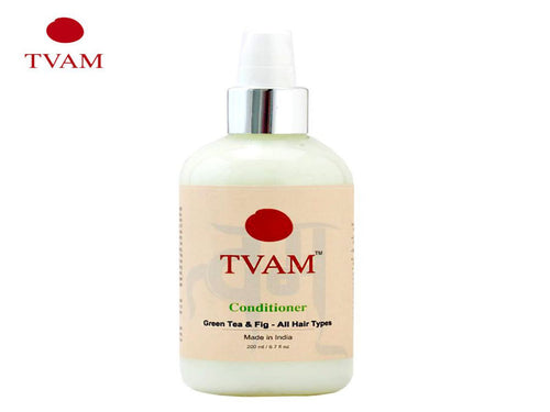 TVAM Green Tea & Fig Conditioner- hair soft and shining-All Hair Types (200ml)
