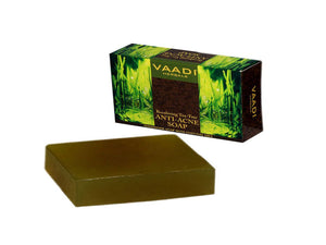 Vaadi Herbals Becalming Tea-Tree Anti-Acne Soap-75Gms