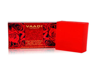 Vaadi Herbals Handmade Soap- Rose Soap Anti-Pigmentation Therapy -75 Gms