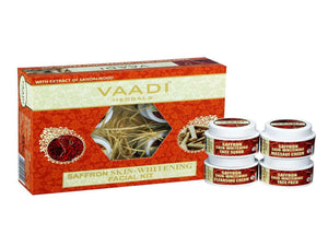 Vaadi Herbals Saffron Skin Whitening Facial Kit with Sandalwood Extract-70GM &270GM