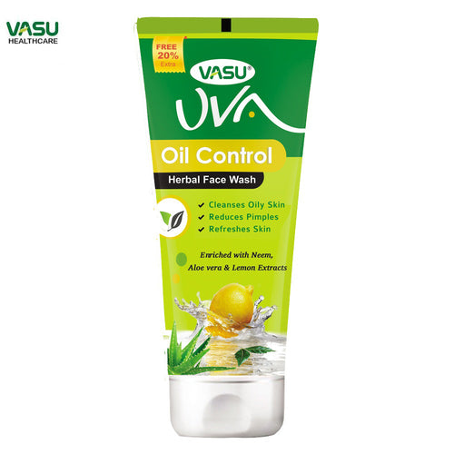 Trichup Vasu UVA Oil Control Herbal Facewash-Helps To Clear Excessive Oil Available at BuyIndianProducts24x7.com