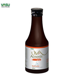 UVA Acnovin Active Syrup-Removes impurities from blood Available at BuyIndianProducts24x7.com