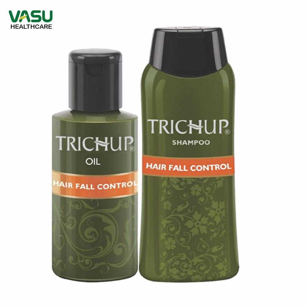 Trichup Hair Fall Control Kit (HFC Oil 2 x 200ml, HFC Shampoo 200ml) Available at BuyIndianProducts24x7.com