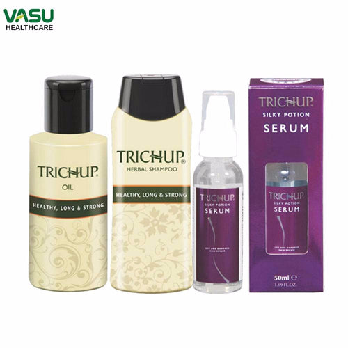 Trichup Lifeless Hair Repair (HLS Oil 200ml, HLS Shampoo 200ml, Hair Serum 50ml) Available at BuyIndianProducts24x7.com