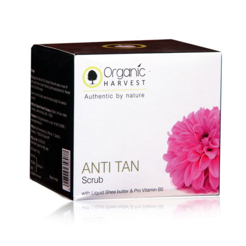 Organic Harvest Anti Tan Scrub-Perfectly Refreshed And Squeaky Clean - 50/100gm Available at BuyIndianProducts24x7.com