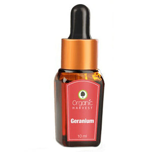 Organic Harvest Geranium Essential Oil - 10ml Available at BuyIndianProducts24x7.com