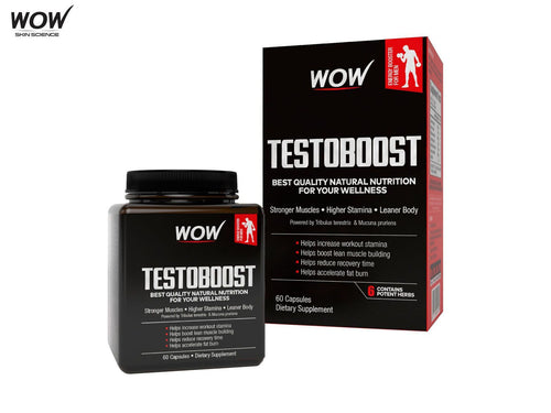 Wow Life Science Testoboost 60 Capsules - 550mg