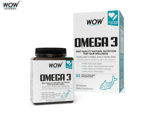 Wow Omega-3 Fish Oil 1000 Mg Triple Strength 550mg Epa 350mg Dha-60capsules