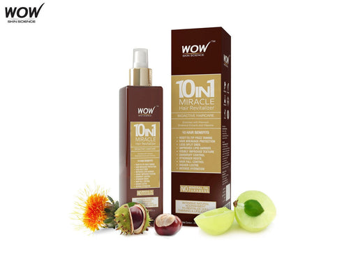 Wow Skin Science 10-In-1 Miracle Hair Revitalizer - 200ml - Mist Spray