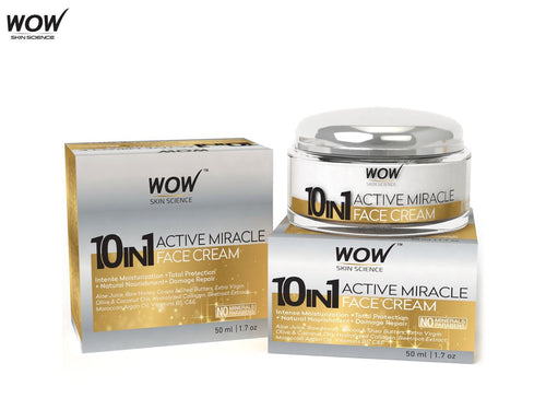 Wow Skin Science 10 In 1 Active Miracle Day Cream 50ml - Spf-15 Pa+++