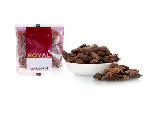 Pure Indian Whole Spices Raw Royal Cardamom/Elaichi Black