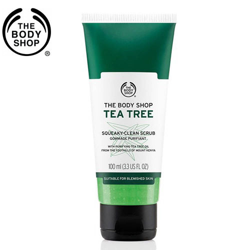 THE BODY SHOP Tea Tree Squeaky Clean Scrub For Skin Care - 100ml Available