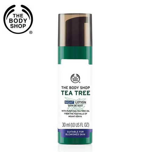 THE BODY SHOP Tea Tree Night Lotion -Leaves Skin Looking Matte - 30ml Available
