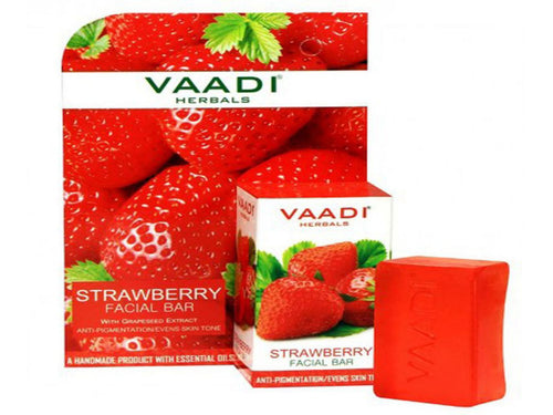 Strawberry Facial Bar Anti-Pigmentation /Evens Skin Tone 25GM