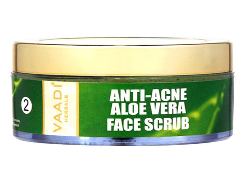 Vaadi Herbals Anti-Acne Aloe Vera Face Scrub - 50 Gms For Women & Men
