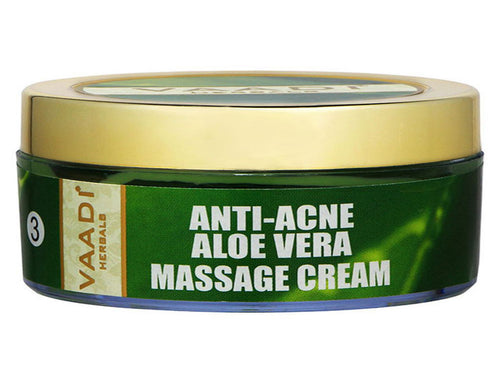 Vaadi Herbals Anti Acne Aloe Vera Massage Cream Grape Seed Extract 50 Gms
